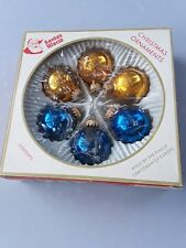 Vintage Christmas Glass Ornaments Balls from Santa's World in West Germany L@@k