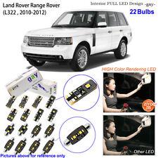 22 Bulb Deluxe LED Interior Dome Light Kit Xenon White For 2010-2013 Range Rover