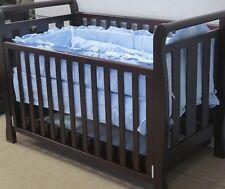 NEW 6 PCS  BEDDING COT SHEET BUMPER blue elephant blanket baby gift pillar