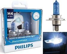 Philips Diamond Vision White 5000K 9003 HB2 H4 60/55W Two Bulbs Head Light Bike