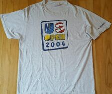 2004 Us Open tennis shirt L Usta gray Serena Williams Andre Agassi Roger Federer