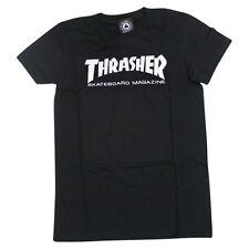Thrasher Magazine Skate Mag Logo Skateboard *Girls Fit* Shirt Black Small