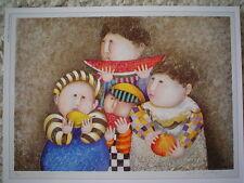 """GRACIELA RODO BOULANGER - Vintage Postcard """"Pomme, Poire, Pasteques"""""""