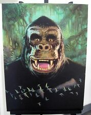 WILLIAM STOUT The Mighty King Kong ORIGINAL ART Canvas Print