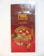 2008 UEFA Champions League MANCHESTER UTD vs CHELSEA FINAL INFORMATION LEAFLET