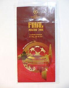2008 UEFA Champions League MANCHESTER UTD vs CHELSEA FINAL INFORMATION LEAFLET