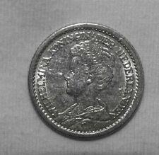 Silber/Silver Niederlande/Netherlands Wilhelmina 1912, 1/2 Gulden