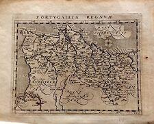 PORTUGAL. Mapa original, Giovanni Antonio Magini,1597