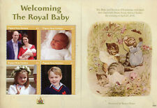 More details for papua new guinea png 2018 mnh prince louis royal baby 4v m/s royalty stamps
