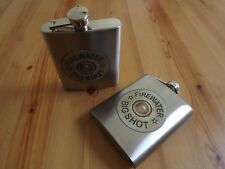 2 Pack Stainless Steel 7 Oz. Hip Flask Shotgun 12 GA Firewater Big Shot