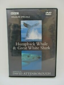 Sir David Attenborough - Humpback Whale & Great White Shark [DVD] [1995] - VGC