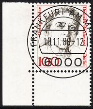 32) Berlin 100 Pf. Frauen  825 Eckrand Ecke 3 E3 EST Frankfurt m Gummi Perfekt