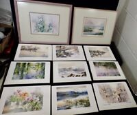 Lot of (11) Lithographs BRENT HEIGHTON titled & signed (2) are already framed