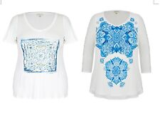 NWT 2 Pack Plus Size Ladies Top / Tunic As Pic Colours Blue & White Size 22