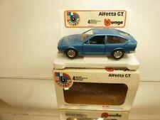 BBURAGO 0136 ALFA ROMEO ALFETTA GT - rare color BLUE METALLIC 1:24 - GOOD IN BOX