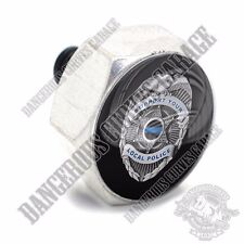 Polished Billet Hex Air Cleaner Cover Bolt Twin Cam Touring - POLICE BLUE LINE