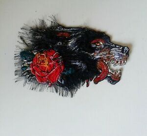 Wolf Handmade Sew-On Embroidered Patch