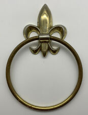 New ListingVintage Brass Fleur de Lis Towel Ring Holder Rack