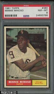 1961 Topps #380 Minnie Minoso Chicago White Sox PSA 8 NM-MT