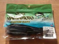 "SMOKE GARY YAMAMOTO CUSTOM BAITS 6"" SINGLE Curly Tail Bass Walleye Northern"