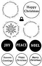 Unmounted rubber stamps - Christmas Sentiment Circles - 5020