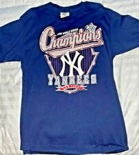 NY Yankees 1998 World Series Champions Blue Embroidered Short sleeve XL-FS