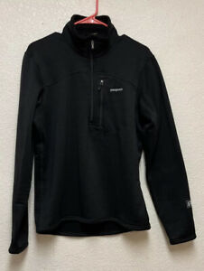 Patagonia R1 1/2 Zip, Pullover, Black, Men's Sz M