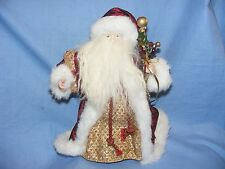 Santa Claus Padre Navidad Figura Decoracion superior árbol de alta 30cm