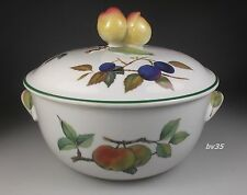 "ROYAL WORCESTER EVESHAM VALE ROUND COVERED CASSEROLE- 6 5/8"" x 3"" VEGETABLE 1 qt"