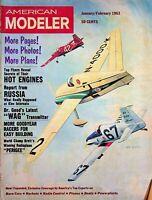 Vintage American Modeler Magazine Jan/Feb 1963 Secrets of Hot Engines m1015