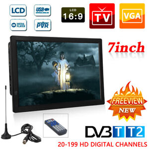 """7/9/10/12/14"""" Portable 1080P Ultra-HD TV Freeview HDMI Digital Television Player"""