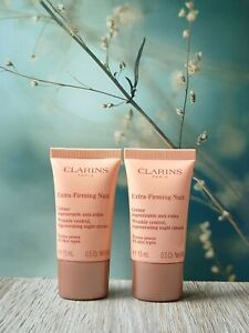 Clarins Extra-Firming Nuit Night Cream, Travel Size: 2x 15 ml