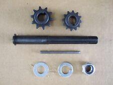 Go Kart Torque Converter Jackshaft, Key, Nut, etc.TAV 2 Type, #40/41 & #35 Gears