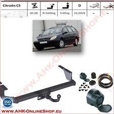 Gancio di traino fisso Citroen C5 SW Familiare 2000-2008 + kit elettrico 13-poli