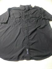 5.11 Tactical Mens Shirt Size XL Black Rip Stop Vented Short Sleeve Button Down