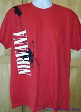 """Nirvana T-Shirt """"Red Guitar"""" Official/Licensed Rock Tee Size:Large New"""
