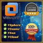 VMware ESXi vSphere/vCenter/vSan/vCloud v6.x LIFETIME LICENSE/ FAST DELIVERY