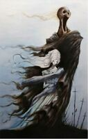 Downpour Heart Guts Blood Depression Original Art Artwork Poster Print 11x17 in
