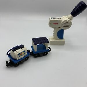 Fisher Price GeoTrax Ocean Side Flyer Remote and Two cars  Only - no locomotive!