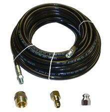 "Sewer Jetter Kit - 50' x 1/4 Hose, Nozzle and 2 Fittings 2"" to 4"" Pipes"