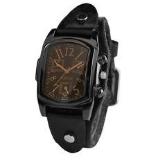 KEVIN Leather Strap Men Quartz Analog Wrist Watch Military Sports Watches