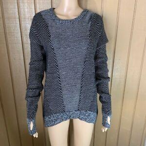 Womens Lululemon Gray Knit Sweater Logo XL