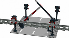 4x Andreaskreuz + 2x Schranke für Lego 9V, RC Train,12V, Bahnübergang, Eisenbahn