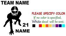 "Vinyl Decal Sticker - Personalized Football #2 sports Car Truck Bumper Window 6"""
