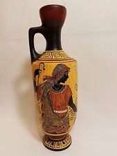Aphrodite & Adonis Greek Goddess Hellenic Art Pottery Vase Lekythos Hand Painted