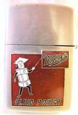 Vintage Super ACE Miller Fluid Power Advertising Lighter Sparking Well Pat 43912