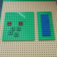 LEGO lot of 2 genuine brick bright green thin Base plate genuine LEGO 16x16 8x16