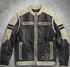 Harley-Davidson Men's Knave Convertible Functional Leather Jacket 97142-17VM 2XL