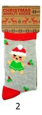 Christmas Xmas Boys Girls Kids Novelty Socks Stocking Filler Gift Size 9 - 6 Blue Head Elf 4-6