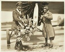 BEBE DANIELS & ROSCOE TURNER Original Vintage Photo 1926  >NEW AIRLINE<